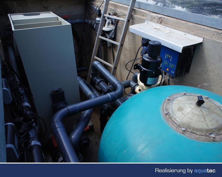 Aquatec schwimmteich 11 aquatec teichbau equipment koi for Koi equipment